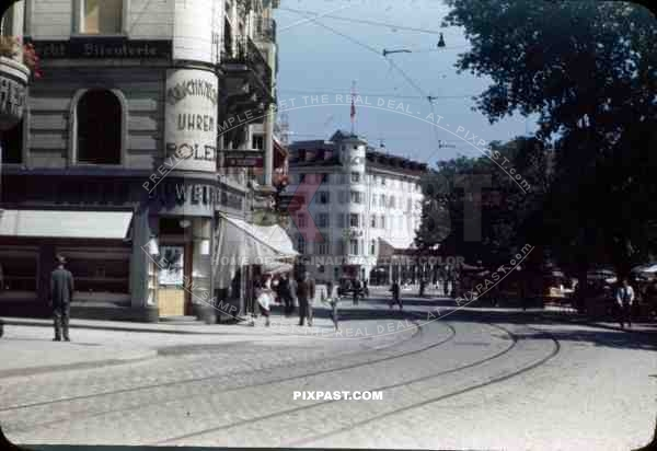 Hotel Gallushof in St. Gallen, Switzerland in June 1945