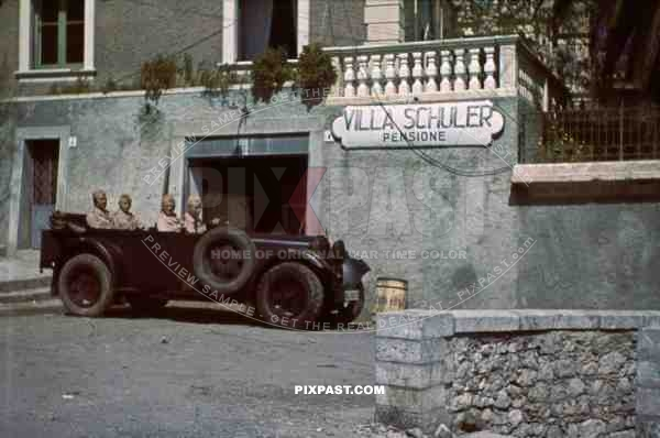 Luftwaffe Field Division 2nd Lufllotte tropical staff car Villa Schuler FliegerKorp 2 Sicily 194