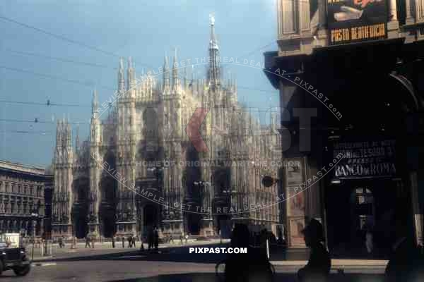 Milan Cathedral, St Mary of the Nativity, Piazza del Duomo, Milano, Italy, 1945, 101st Cavalry Regiment