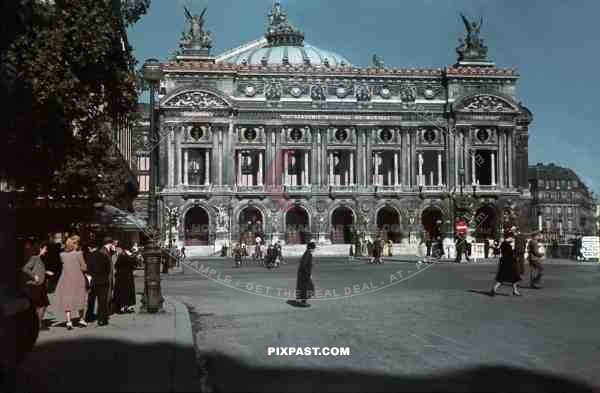Occupation of Paris France 1940. City Opera House. Palais Garnier