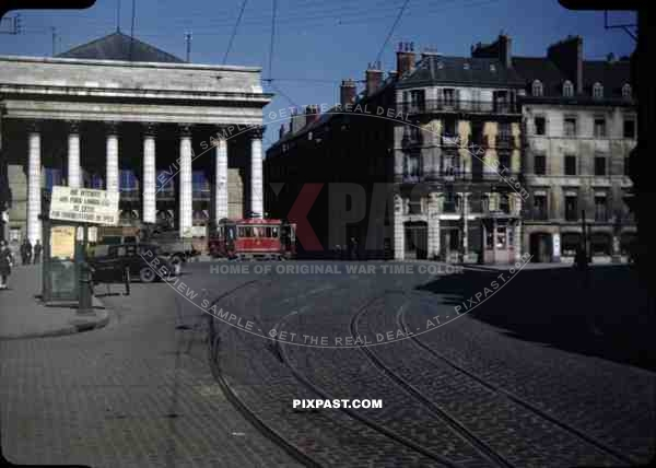 opera house dijon france ve day victory in europe may 8th 1945 tram vintage old car 1. Black Bedroom Furniture Sets. Home Design Ideas