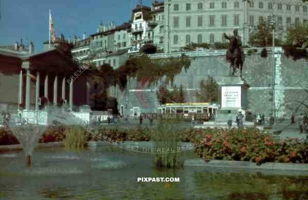 Place Neuve in Geneva, Switzerland 1945