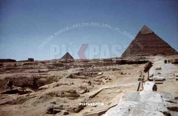 Pyramid of Cheops in Giza, Egypt 1939