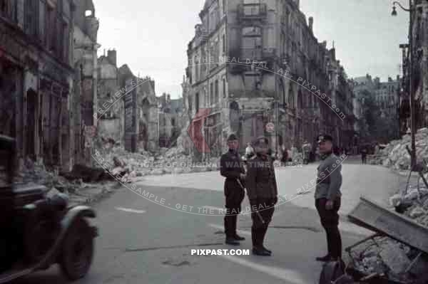 Rue Denis Papin in Blois, France 1940