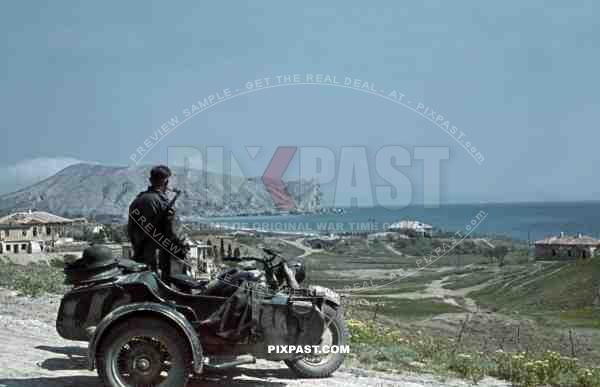 Sudak Bay in Crimea, Ukraine 1942