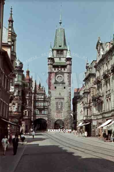 the city gate in Freiburg, Germany 1939