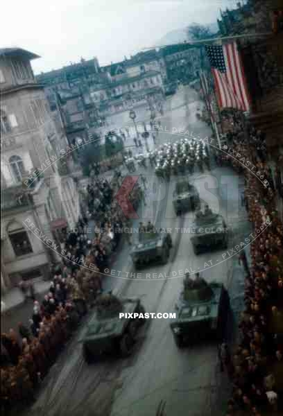 The Military Funeral of American General George S Patton in Heidelberg Germany 1945.