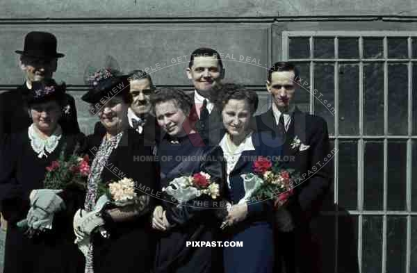 Austrian Luftwaffe Pilot Wedding Day Family Group Vienna